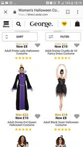halloween costumes from  £4 now live on george.