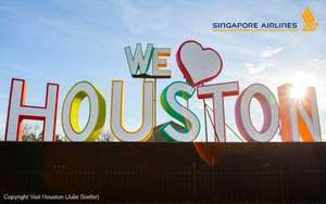 Cheap return flights to Houston, Texas from Singapore £199 @ Singapore Air