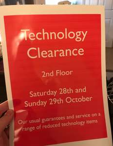 John Lewis Newcastle Technology Clearance Event - Computers, tablets, TVs etc