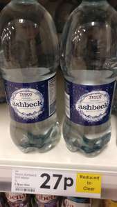Ashbeck water 1L 27p instore @ Tesco