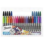 Update 29/10  - Back in stock - 3 for 2 on Sharpie Fine Permanent Marker Pens Limited Edition 30pk - works out at £5.33 a pack -  or mix and match with other items @ Tesco Direct