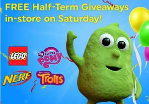 Free goodie bag in store at Smyths toys 28th October only