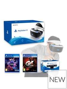 £50 off on all PlayStation VR Bundles e.g PSVR with Camera + VR Worlds + GT Sports for £303.98 with code @ Very