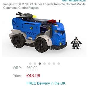 Imaginext DTM79 DC Super Friends Remote Control Mobile Command Centre Playset £43.99 Amazon