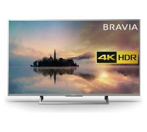 "Sony Bravia KD55XE7073 LED HDR 4K Ultra HD Smart TV, 55"" with Freeview Play & Cable Management, Silver £629.10 - Argos"