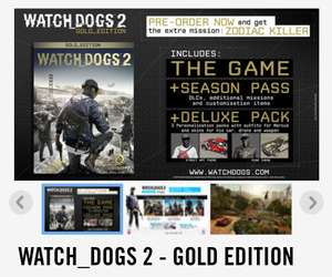 Watch dogs 2 gold edition for ps4 £19.25 UbiStore (£8.99 p&p)
