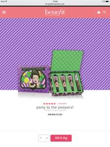 Benefit Party to the Peepers Set Was £16.50 Now £8.84 at Benefit Online + 2 free samples