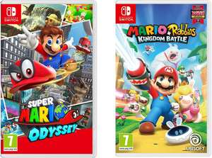 Super Mario Odyssey + Mario Rabbids Battle Kingdom £73.98 ( £36.99 each Game ) @ Argos