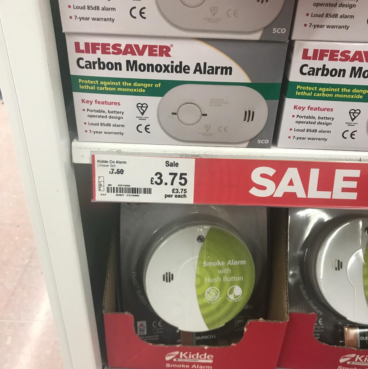 Kidde Lifesaver Carbon Monoxide (CO) alarm £3.75 ASDA in store (Warrington)