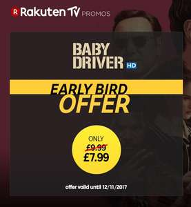100% Cashback on Baby Driver Digital HD/SD copy at Rakuten TV via TopCashBack