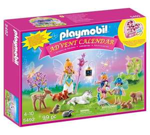 Playmobil 5492 Christmas Unicorn Fairyland and Playmobil 5493 Dragons Treasure Battle Advent Calendars at £14.99 each C+C @ Argos