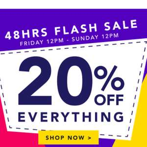 20% off EVERYTHING full price @ Peacocks Online Only