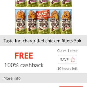 Taste Inc chargrilled chicken fillets 5pk free