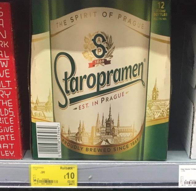 Staropramen Czech Beer 12 x 330ml £10.00 instore @ Asda