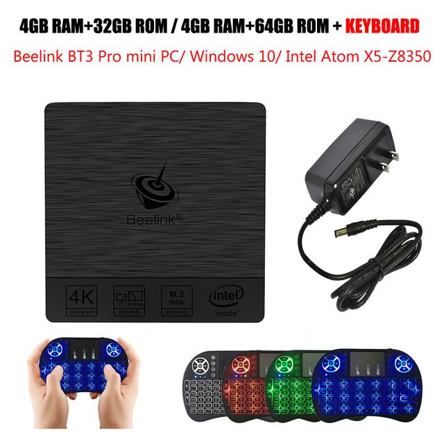 Beelink BT3 Pro Mini PC 2.4/5.8GHz WiFi Bluetooth 4.0 Max 4GB RAM+64GB ROM Windows 10 Intel Atom X5-Z8350 64Bit PK Beelink AP42 - £94.48 @ Ali Express