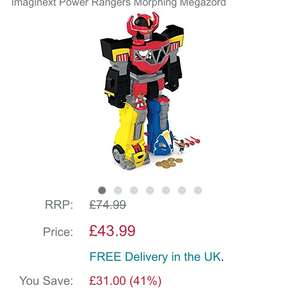 Imaginatext morphing megazord at Amazon for £43.99