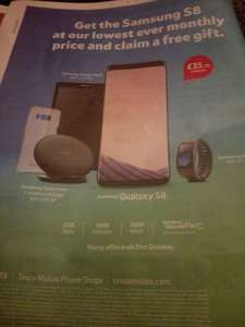 Tesco samsung S8 along with free gift £37.75 for 30 months - £1072.50 @ Tesco Mobile