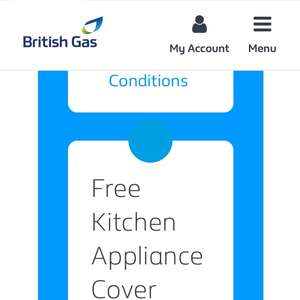 British Gas rewards free year appliance cover (1 item for 1 year) - Existing Customers