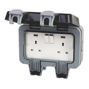 BG Weatherproof (outdoor) 13A 2 gang Socket £9.99 @ Screwfix C&C