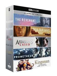 Five 4k Uhds for £40.35. Kingsman.Martian.Prometheus.Assassins creed.The Revenant @ Amazon France