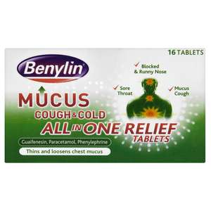 Benylin Mucus Cough and Cold All in One Tablet 16 pack £1.06 @Wilko Online/In store.