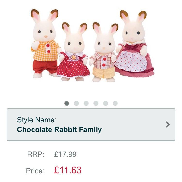 Sylvanian familes chocolate rabbit family @ Amazon - £11.63 Prime / £15.62 non-Prime