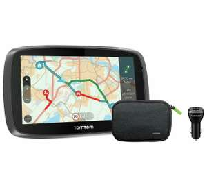 Lifetime cam, traffic,maps.TomTom Go 5100 5In Traffic Sat Nav World Maps, Charger, Case. SIM CARD INCLUDED. at Argos for £179.99