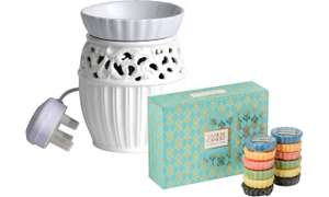 Yankee Candle Electric Astbury Wax Melt Warmer with 12 Wax Melts at Groupon for £21.98