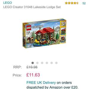 Lego creator lakeside lodge at Amazon for £11.63 Prime (£13.62 non Prime)