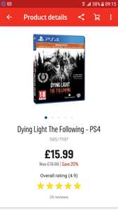 Dying Light The Following PS4 at Argos for £15.99