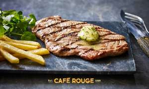 Steak, Frites + Glass of Wine for 2 People £12.80 (£6.40p/p) with code @ Café Rouge via Groupon