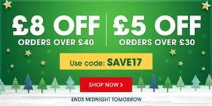 The BookPeople £5 off a £30 spend or £8 off a £40 spend with free delivery on orders over £25.