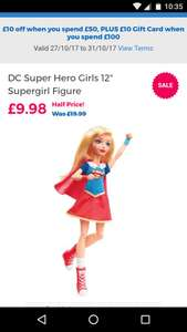"Another half price offer at Toys r us - DC Super Hero Girls 12"" Supergirl Figure £9.98 - Free c&c"