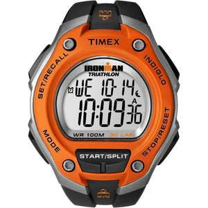 Timex Mens Ironman Triathlon Digital Watch - Black/Orange £23.99 @ Mymemory