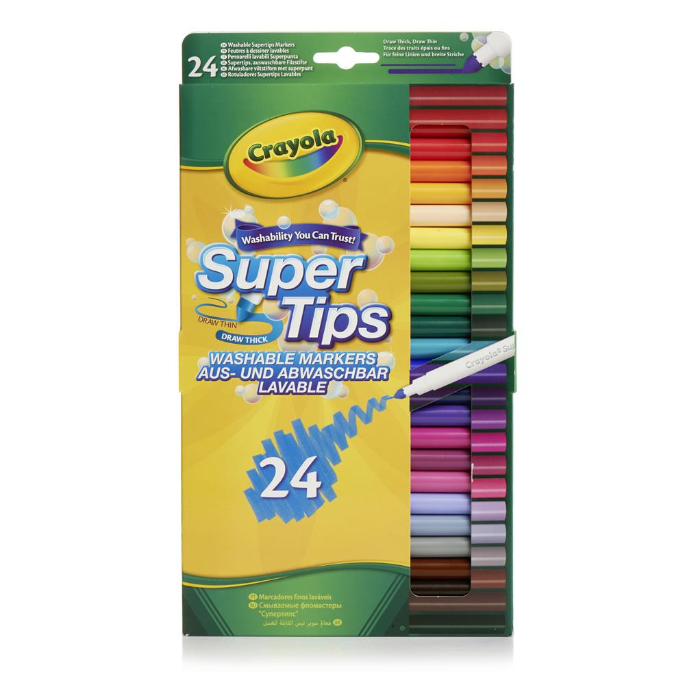 Crayola Supertips 24pk now £3.50 / Crayola Crayons 24pk for £1 / Crayola Coloured Pencils 12pk £1.25 + More @ Wilko