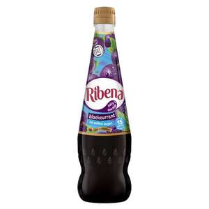 No Added Sugar Blackcurrant and Strawberry Ribena 850ml £1 @ Heron