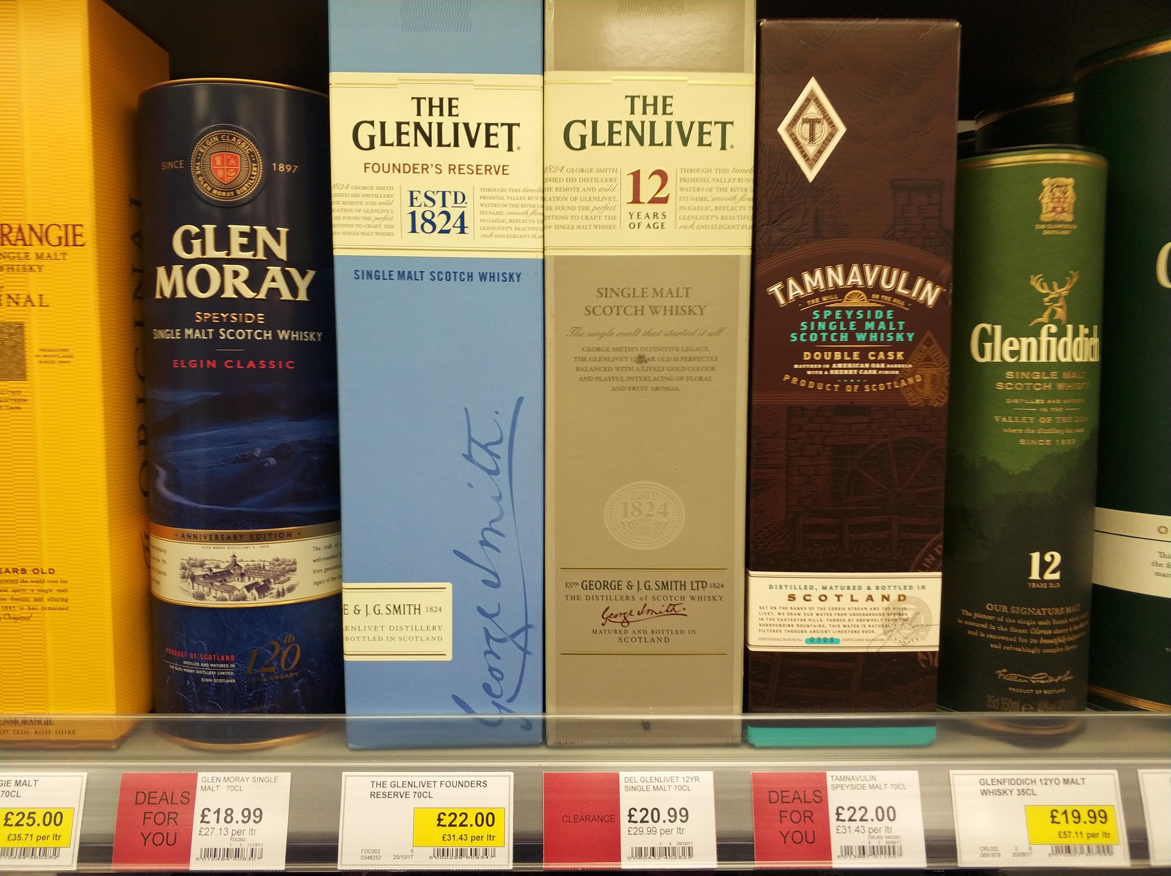 Glenlivet 12 Year Old Malt Whisky - £20.99 @ Co-op
