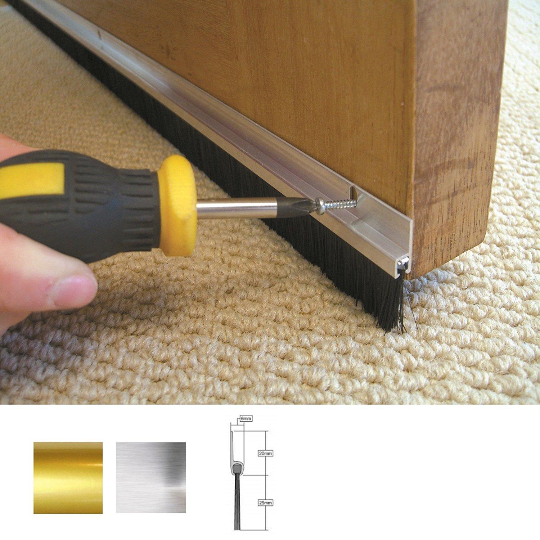 Stormguard aluminium and brush door seal (L) 2134MM £6.83 @ B&Q