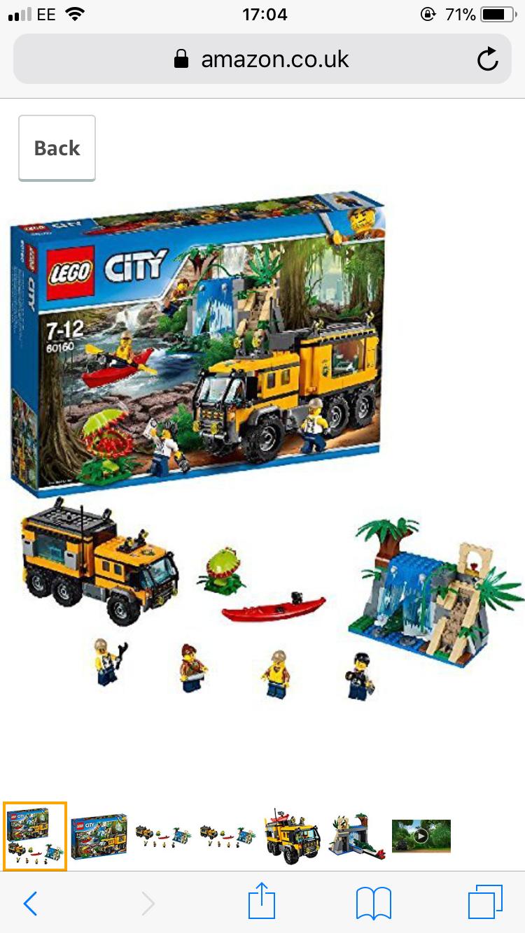Lego City Jungle Mobile Lab 60160 £28.34 @ Amazon