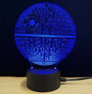 3D LED Death Star Lamp + Others from £6.87 incl Free Shipping @ GearBest