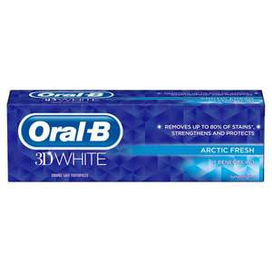 Oral b 3D White Toothpastes for £1.5 @ Asda instore & online