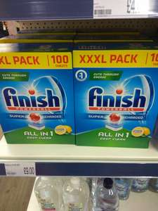Finish All-in-One Lemon deep clean dishwasher tablets 100 for £9.00 at Poundworld