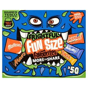 Mars Fun Size Halloween Box 50 Treat Size Bars 888G £3.50 @ Tesco