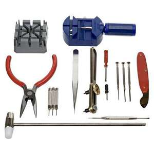 Generic 16 pcs Deluxe watch opener tool kit £2.99 @ Amazon Add on