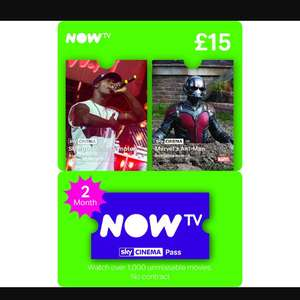 2 month now tv cinema pass £12 - Tesco Llandudno junction