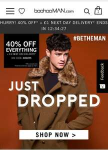 40-50% reduction in clothes and 50% student discount on top! @ BooHooMan