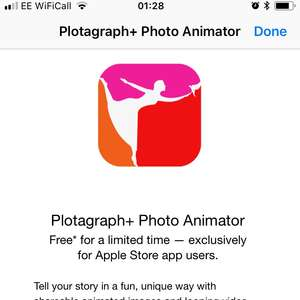 Free Copy Of Plotagraph+ Photo Animator via Apple Store App