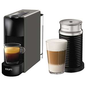 Nespresso Essenza Grey (new model) and Aeroccino 3 + £75 capsule vouchers and 2 year guarantee  @ John Lewis