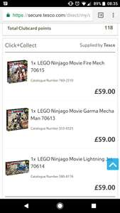 Lego Ninjago Movie Lego sets - 3 for 2 in Tesco Toy Event