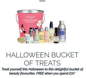 Free Halloween buckets of treats (worth £32) with free shipping when you spend over £75 @ I'occitane